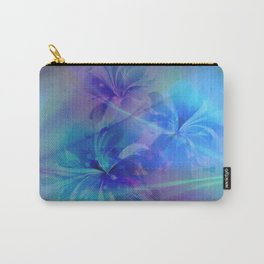 Soft  Colored Floral Lights Beams Abstract Carry-All Pouch