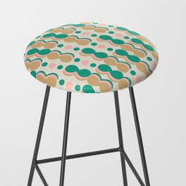 Uende Cactus - Geometric and bold retro shapes Bar Stool