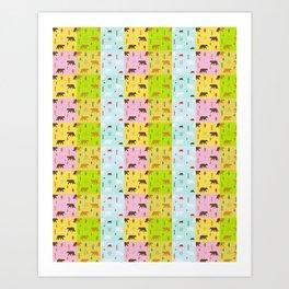 Beautiful Bears (Pattern) Art Print