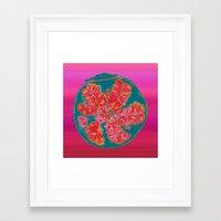 pomegranate Framed Art Prints featuring Pomegranate by bravo la fourmi