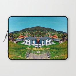 Springtime village skyline panorama Laptop Sleeve