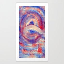 RED WHITE & Q++ Art Print