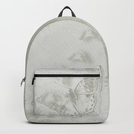 delicate butterflies and textured chevron pattern Backpack