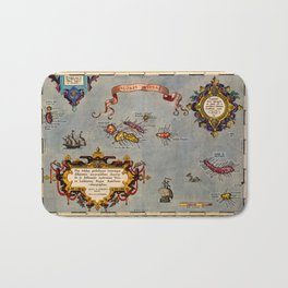 Map Of The Azores 1606 Bath Mat
