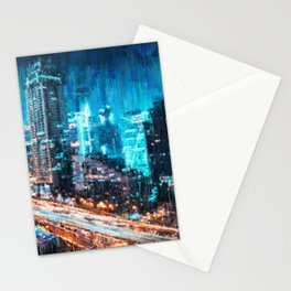 Night City Stationery Cards