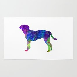 Istrian Scenthound in watercolor Rug