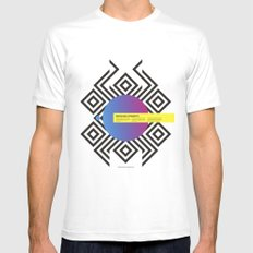 Impossible Symmetry - Circle White Mens Fitted Tee MEDIUM