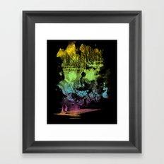 treasure island Framed Art Print