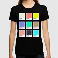 A DESIGNER'S SUMMER Womens Fitted Tee SMALL Black