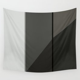 Black and White Geometric Wall Tapestry