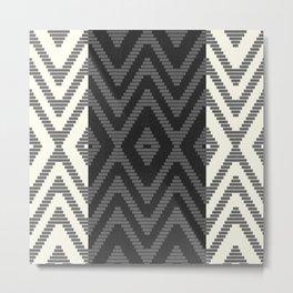 Rattan in Charcoal Metal Print