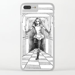 Bloody Alice Clear iPhone Case
