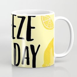 Squeeze the Day Pattern Coffee Mug