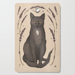 The Cat and Lavender Cutting Board