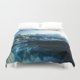 River in the Mountains Duvet Cover