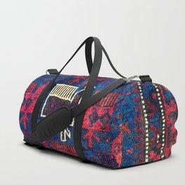 Baluch Khorasan Northeast Persian Bag Face Print With Birds Duffle Bag