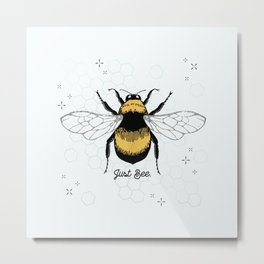 Just Bee. Metal Print