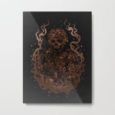 Military skull Metal Print