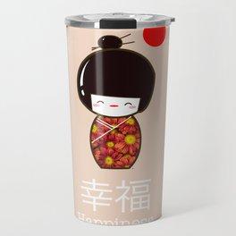 Geisha Girl Happiness Kawaii Travel Mug
