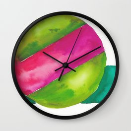 180819 Geometrical Watercolour 2  | Colorful Abstract | Modern Watercolor Art Wall Clock