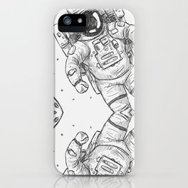 astro Traveller Retro iPhone Case