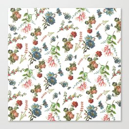 Antique Floral Pattern Canvas Print