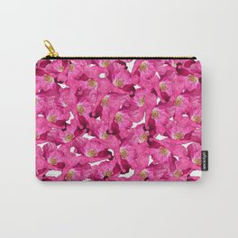 Floral poppies pink pattern. Carry-All Pouch