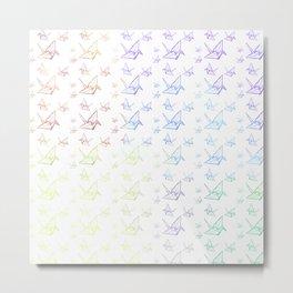 Tsuru Pattern Metal Print