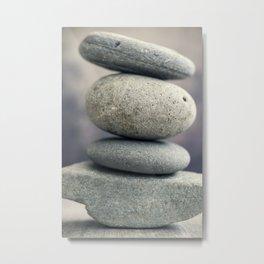 Calming Stones Metal Print