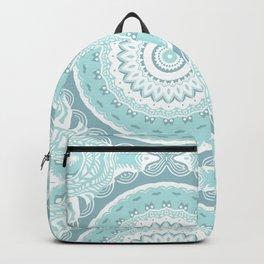 Mandala Pattern Light Blue Teal Aqua Pastels Backpack