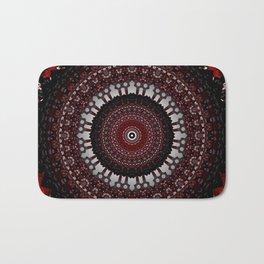 Decorative Red Mandala Design Bath Mat