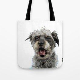 Yawning Dog Tote Bag