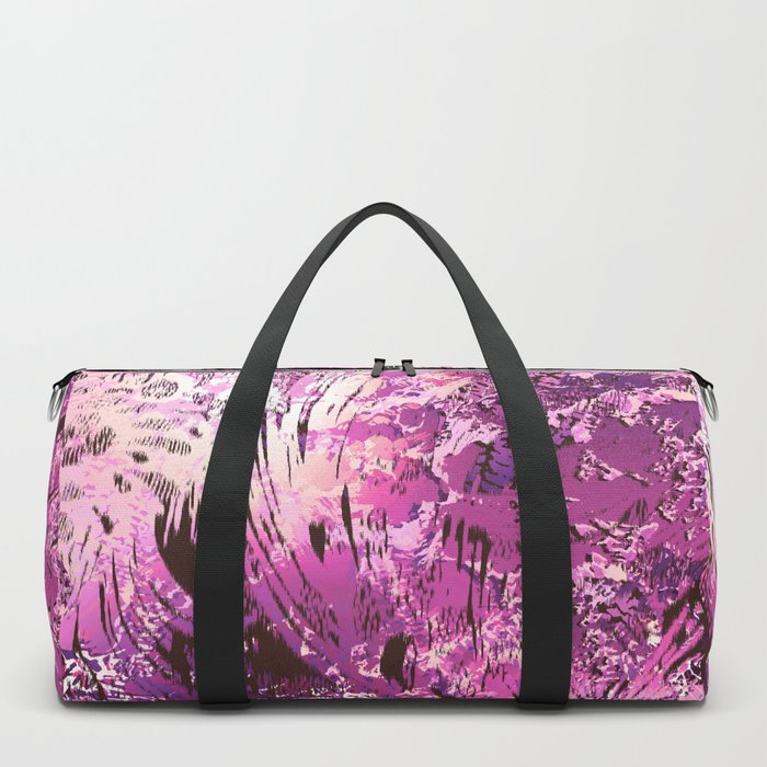 texture in fuchsia Duffle Bag