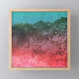 Red Ocean Framed Mini Art Print