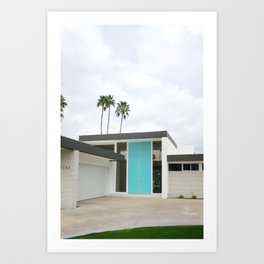 Palm Springs - That Aqua Door Art Print