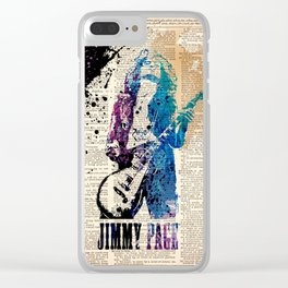 JIMMY PAGE #on dictionary page Clear iPhone Case