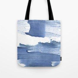 Steel blue blurred watercolor texture Tote Bag