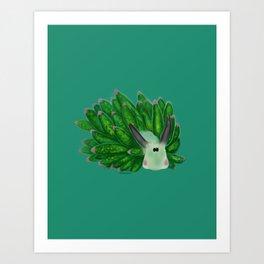 Leaf sheep Sea Slug Art Print