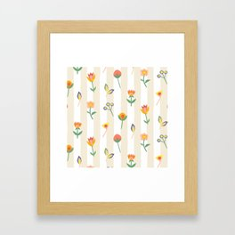 Paper Cut Flowers Framed Art Print