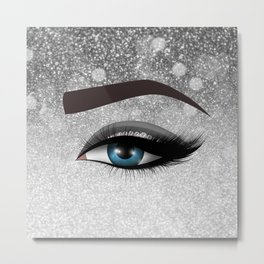 Glam diamond lashes eye #1 Metal Print