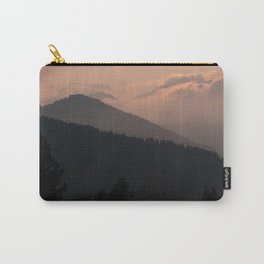 mountains trees night upland dolomites italy Carry-All Pouch