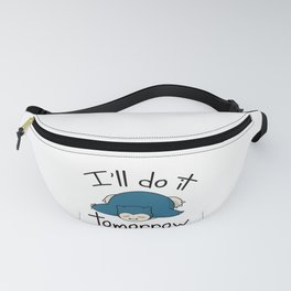 Snorlax i'll do it tomorrow Fanny Pack