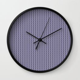 Black and Lavender Skulls Wall Clock