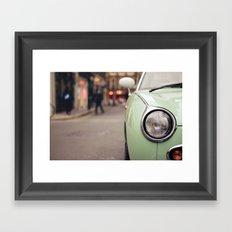 The green car Framed Art Print
