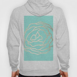 Flower in White Gold Sands on Tropical Sea Blue Hoody