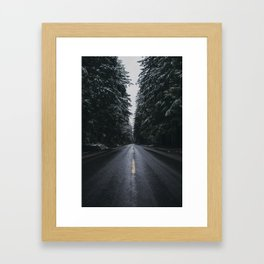 Where the Pines Extend  Framed Art Print