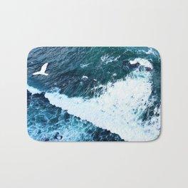 Seagull over the Atlantic Bath Mat