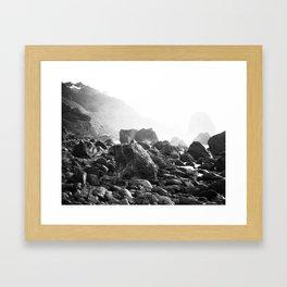 Mile Rock Beach, San Francisco  Framed Art Print