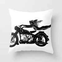 nirvana Throw Pillows featuring Nirvana by William Michael