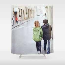 Kid Couple - Florence, Italy Shower Curtain